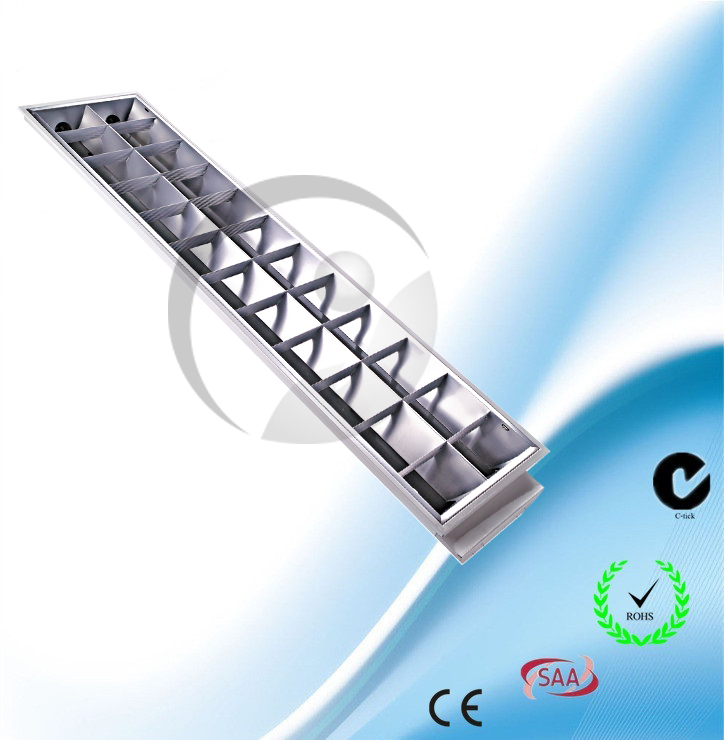 Recessed T8 Grill lighting fitting Double Tubes