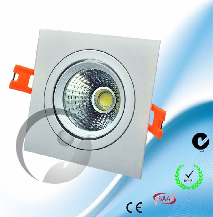Square LED COB Downlight 3-10W